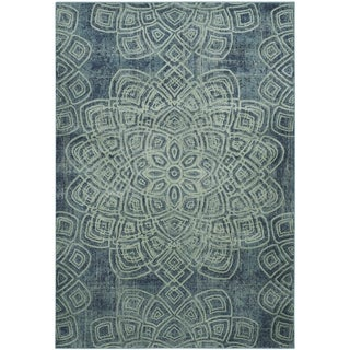 Safavieh Constellation Vintage Light Blue / Multicolored Viscose Rug (2' x 3')