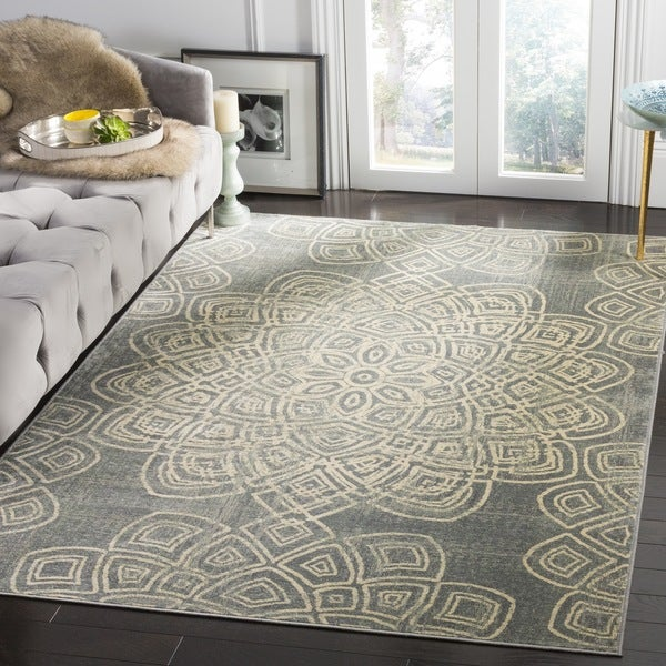 Safavieh Constellation Vintage Light Grey / Multicolored Viscose Rug - 2' x 3'