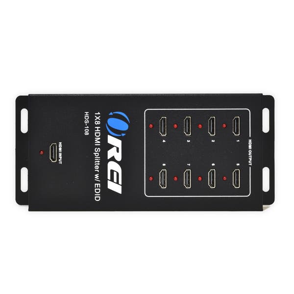 Orei Hds 108 1x8 Powered 1080p V1 4 Certified Hdmi Splitter With Full Ultra Hd 4k 2k And 3d Resolutions