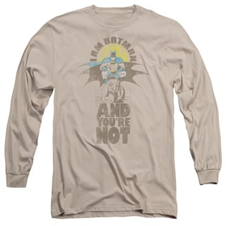DC/And You're Not Long Sleeve Adult T-Shirt 18/1 in Sand