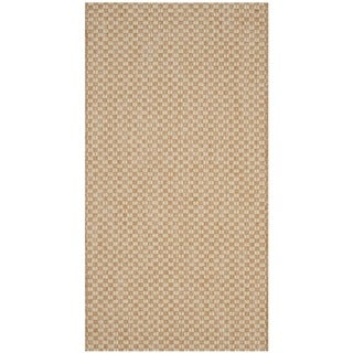 Safavieh Indoor / Outdoor Courtyard Natural / Cream Rug (2' x 4')