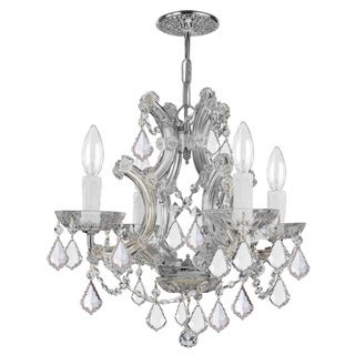 Crystorama Maria Theresa Collection 4-light Polished Chrome/Swarovski Spectra Crystal Mini Chandelier