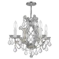 Crystorama Maria Theresa Collection 4-light Polished Chrome/Swarovski Elements Spectra Crystal Mini Chandelie