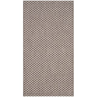 Safavieh Indoor / Outdoor Courtyard Light Brown / Light Grey Rug (2' x 4')