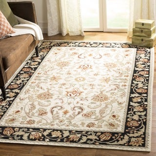 Safavieh Hand-hooked Easy to Care Ivory / Navy Rug (2' x 3')