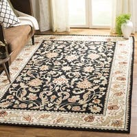 Safavieh Hand-hooked Easy to Care Black / Ivory Rug (2' x 3')