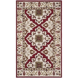 Safavieh Hand-hooked Easy to Care Ivory / Ivory Rug (2' x 3')