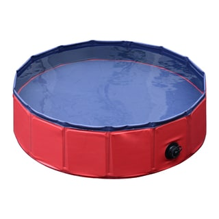 Pawhut 8-inch x 32-inch Foldable PVC Pet Swimming Pool