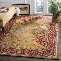 Safavieh Hand-hooked Easy to Care Multicolored / Red Rug - 2' x 3'