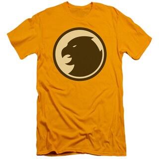 DCO/Hawkman Symbol Short Sleeve Adult T-Shirt 30/1 in Gold