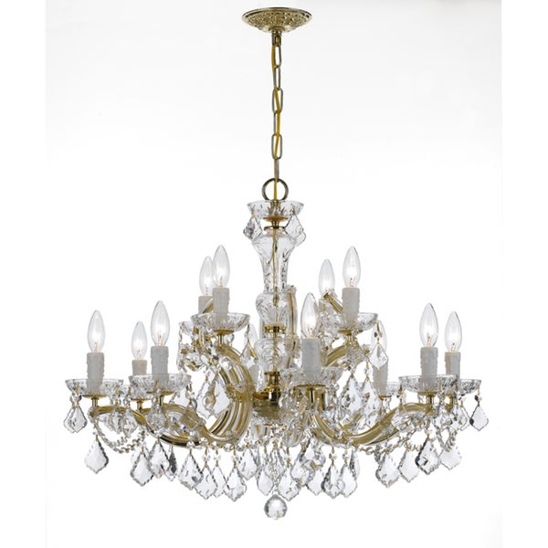 Crystorama Maria Theresa Collection 12-light Gold/Swarovski Strass Crystal Chandelier