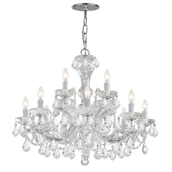 Crystorama Maria Theresa Collection 12-light Polished Chrome/Swarovski Strass Crystal Chandelier