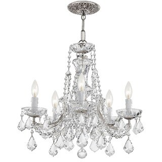 Crystorama Maria Theresa Collection 5-light Polished Chrome/Swarovski Strass Crystal Chandelier