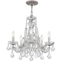 Crystorama Maria Theresa Collection 5-light Polished Chrome/Swarovski Elements Strass Crystal Chandelier