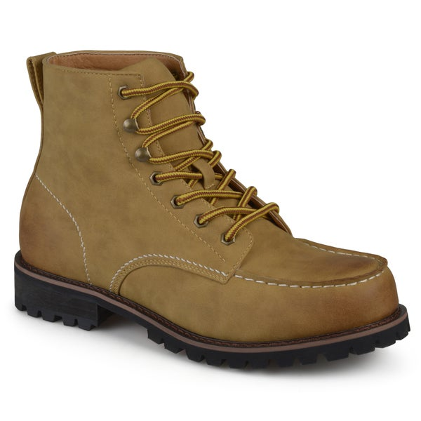 Vance Co. Men's 'Carson' Lace-up High Top Moc Toe Work Boots