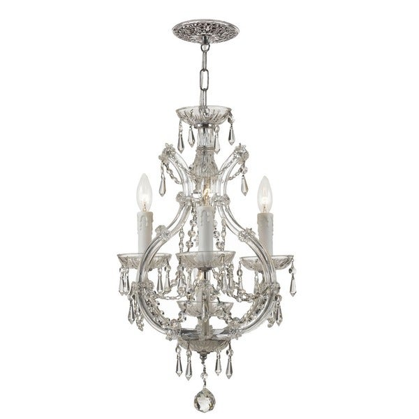 Shop crystorama maria theresa collection 4 light polished chrome crystorama maria theresa collection 4 light polished chromeswarovski spectra crystal mini chandelier aloadofball Images