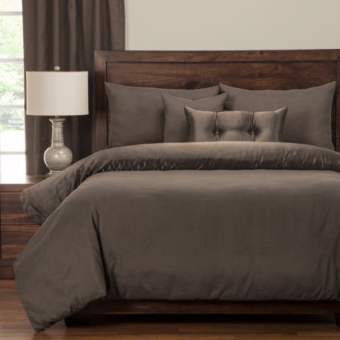 PoloGear Gateway Peppercorn Embossed Luxury Duvet Cover Set