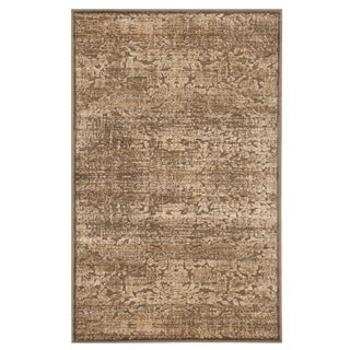 Martha Stewart by Safavieh Heritage Bloom Soft Anthracite/ Camel Viscose Rug (2' 7 x 4')