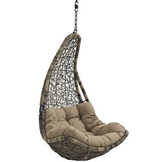 Modway Abate Rattan Outdoor Patio Swing Chair