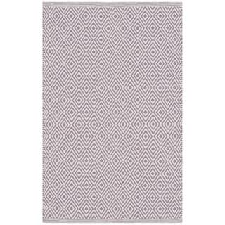 Safavieh Handmade Flatweave Montauk Eliina Casual Cotton Rug (3 x 5 - Ivory/Purple)