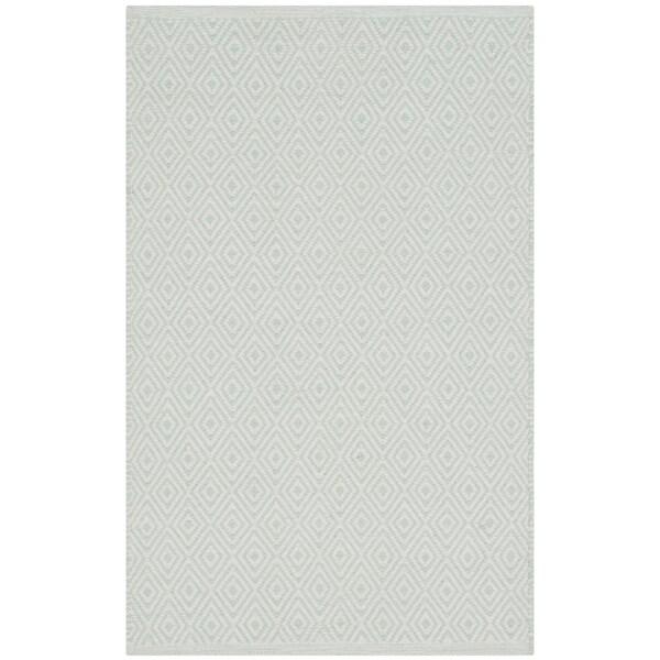 Safavieh Hand-Woven Montauk Flatweave Ivory / Foam Green Cotton Rug (2' x 4')