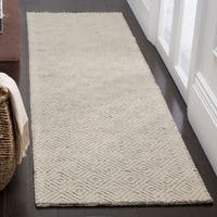 Safavieh Handmade Natura Southwestern Ivory / Light Grey Wool / Cotton Rug (2' x 3') - 2' x 3'