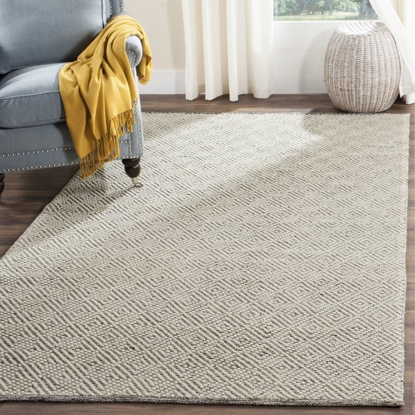 Safavieh Handmade Natura Southwestern Ivory / Light Grey Wool / Cotton Rug (2' x 3')