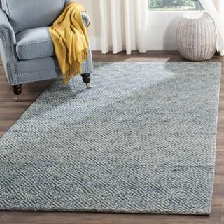 Safavieh Handmade Natura Southwestern Blue Wool / Cotton Rug - 2' x 3'