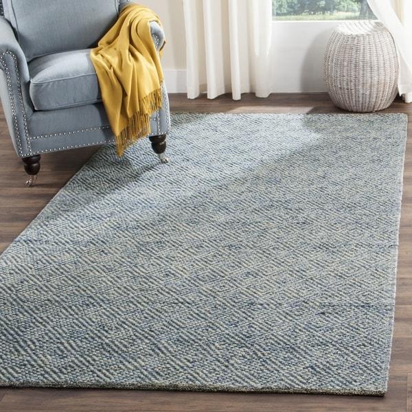 Safavieh Handmade Natura Southwestern Blue Wool / Cotton Rug (2' x 3')