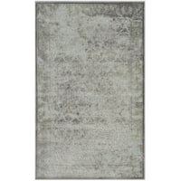 "Safavieh Paradise Watercolor Vintage Light Grey / Spruce Viscose Rug - 2'7"" x 4'"