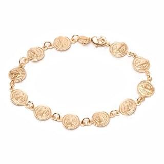 Peermont Jewelry 18k Yellow Gold-plated Religious Bracelet