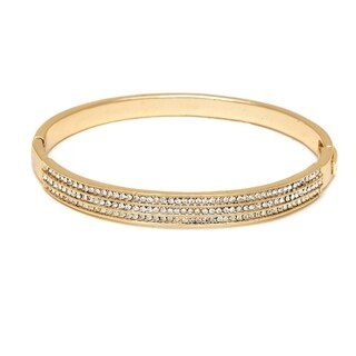 Goldplated Gold and 3-row Bangle Bracelet