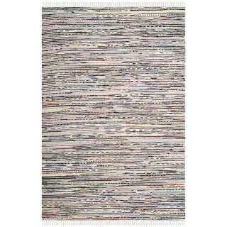 Safavieh Hand-Woven Rag Rug Ivory / Multicolored Cotton Rug (2' 6 x 4')