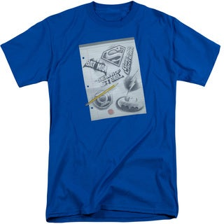 DC/Logo Note Paper Short Sleeve Adult T-Shirt Tall in Royal