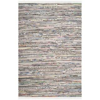 Safavieh Hand-Woven Rag Rug Ivory / Multicolored Cotton Rug (2' x 3')