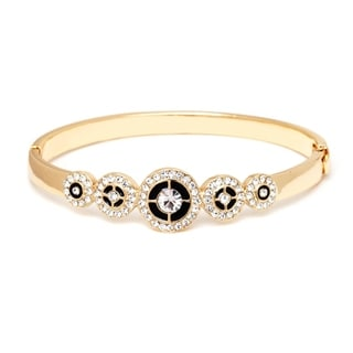 18K Gold-plated Gold and White Circle Bangle Bracelet