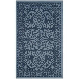 Safavieh Handmade Restoration Vintage Blue / Dark Blue Wool Rug (2' x 3')