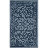 Safavieh Handmade Restoration Vintage Blue/ Dark Blue Wool Rug - 2' x 3'