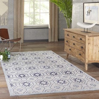 Hand-Knotted Channing Blue Viscose Rug (2' x 3')