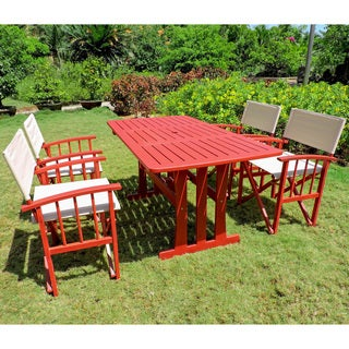 International Caravan Acacia Hardwood Outdoor Dining Set (Set of 5)