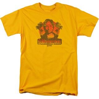 Californication/Hank Retro Short Sleeve Adult T-Shirt 18/1 in Gold