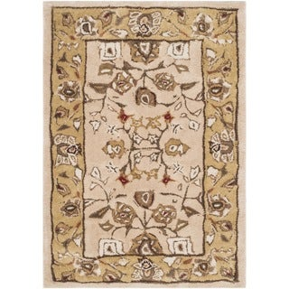 Safavieh Hand-hooked Total Performance Ivory / Gold Acrylic Rug (2' x 3')