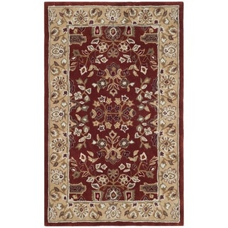 Safavieh Hand-hooked Total Performance Rust / Green Acrylic Rug - 2' x 3'