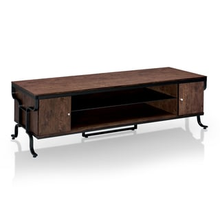 Furniture of America Ilios Transitional 72-inch Antique Oak TV Stand
