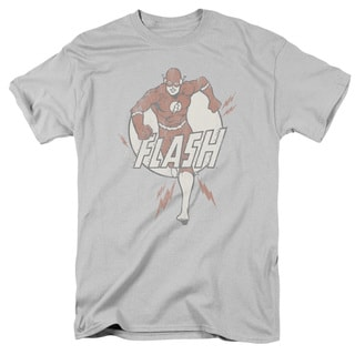 DC/Lightning Fast Short Sleeve Adult T-Shirt 18/1 in Silver