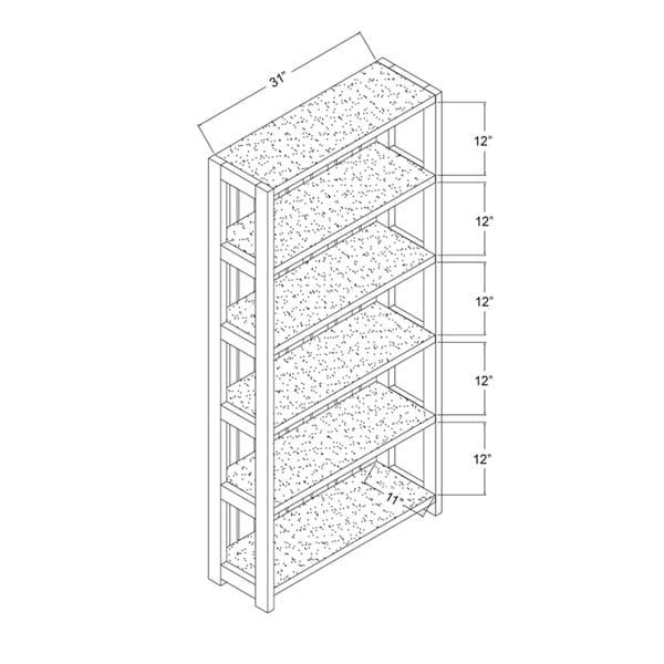 Furniture of America Pend Transitional Grey 5-shelf Slatted Bookcase