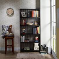 Furniture of America Trainer Slatted Distressed Grey 5-shelf Bookcase