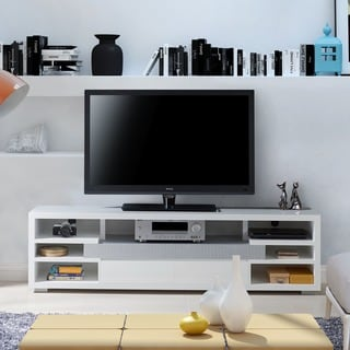 Furniture of America Everett Contemporary White Multi-Storage 70-inch Entertainment Console