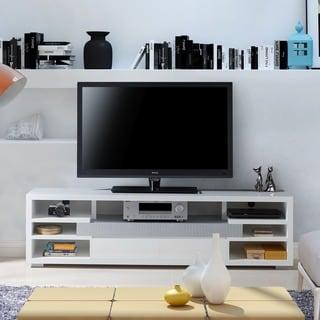 Furniture of America Everett Contemporary White Multi-Storage 70-inch Entertainment Console