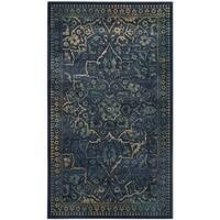 Safavieh Vintage Oriental Blue/ Yellow Distressed Silky Viscose Rug (2' x 3')